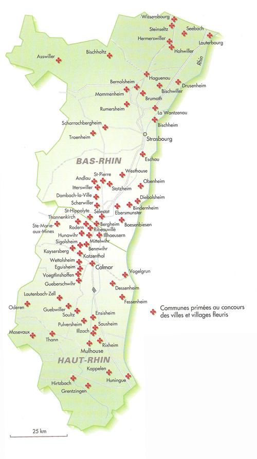 Carte Villes Haut Rhin